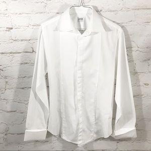 Armani Modern Fit Basic Tuxedo Shirt French Cuffs